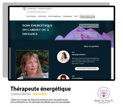 Site internet pour une thérapeute en soin énergétique