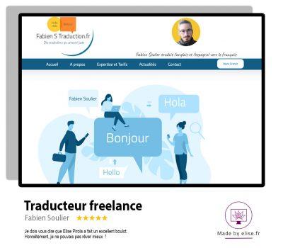 Site internet pour un traducteur freelance
